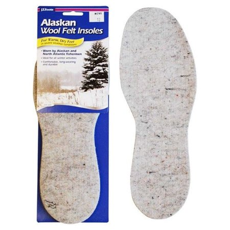 J.T.Foote Alaskan Wool Felt Warm & Dry Feet Durable/Industrial Insoles