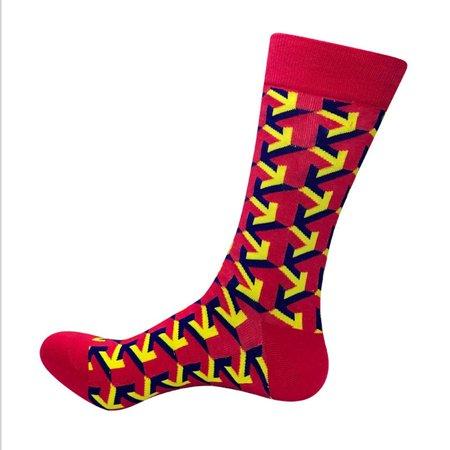 New Arrival 2019 Hot Men Women Happy Socks Funny Print Cotton Long Crew Socks Red](Red And White Long Socks)