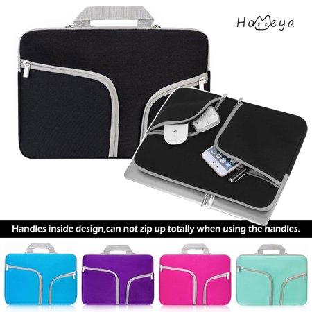 Homeya 11.6 Laptop Sleeve Case Cover Bag Slim Laptop Case For 11 Inch Macbook Apple Samsung Chromebook HP Acer Lenovo Portable Laptop Sleeve Liner Package Notebook Case Soft Sleeve Bag Case Black