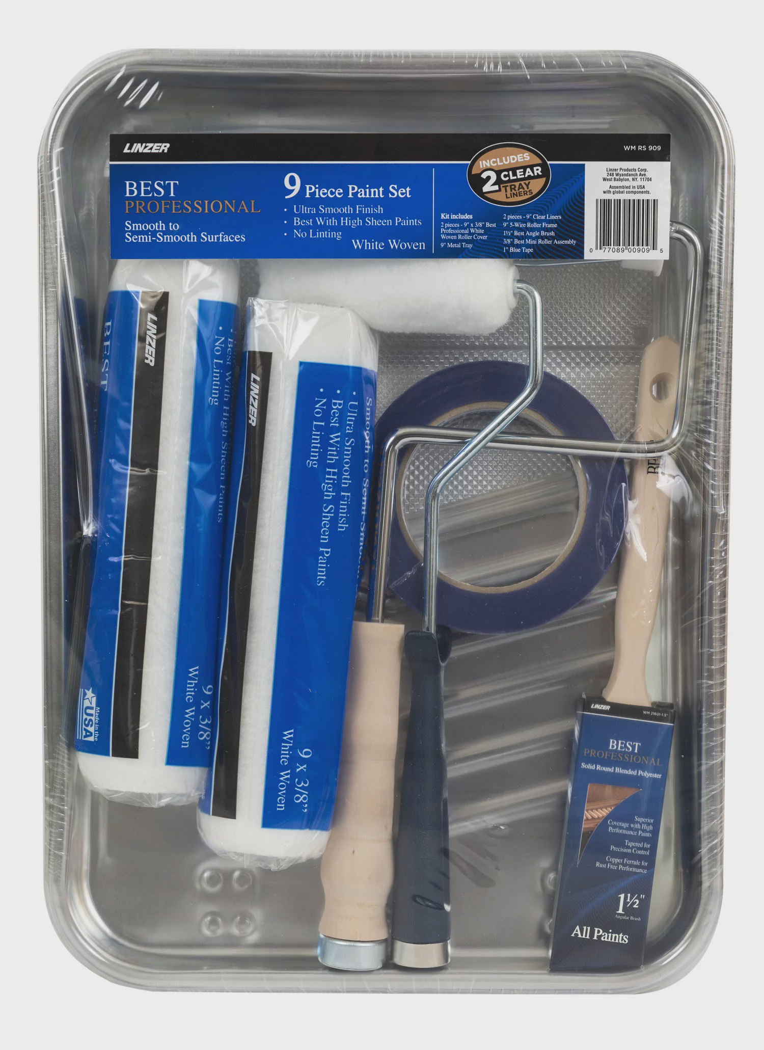 Paint a Room 9 Piece Wall Painting Set Paint Roller Kit Home Paint Supplies
