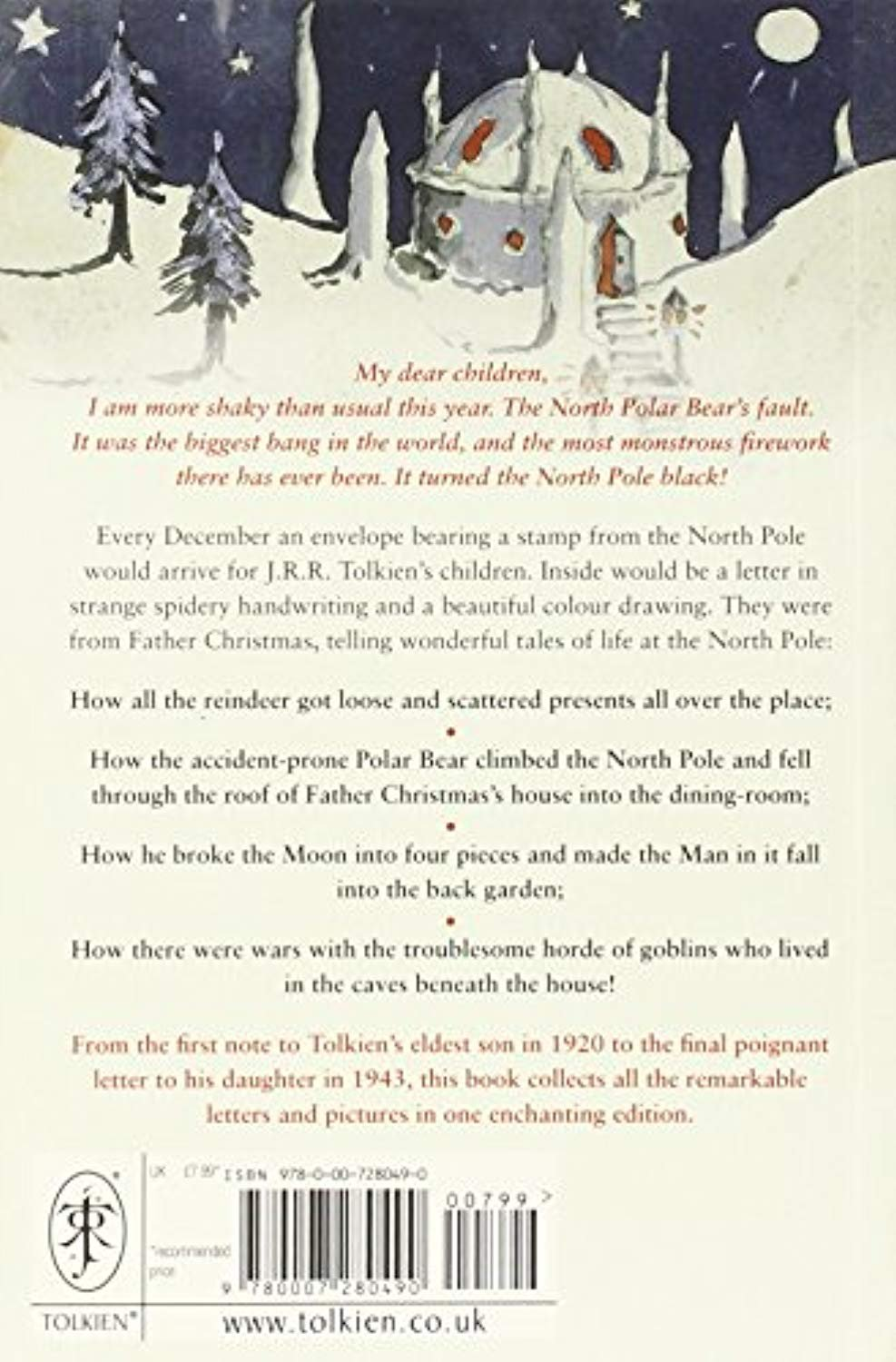 Father Christmas Letters Tolkien.Letters From Father Christmas J R R Tolkien