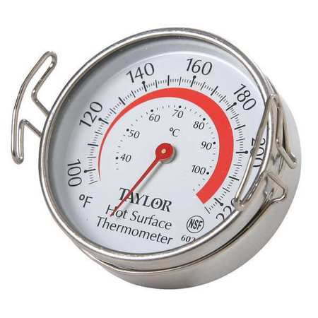 TAYLOR Food Srvc Thrmomtr,Grill,100 to 700 F 6021