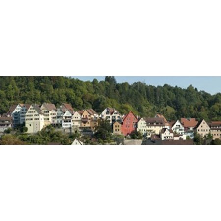 Buildings in a city Horb am Neckar Northern Black Forest Region Baden-Wurttemberg Germany Canvas Art - Panoramic Images (18 x