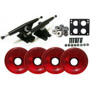 Randal 180 Black LONGBOARD TRUCKS Package 76mm T.RED Wheels