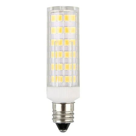LumenBasic E11 LED Bulb Warm White with Mini Candelabra Base - 50 watt to 60 watt incadescent Bulb Replacement, 50w to 60w Halogen Bulbs Equivalent, JDE11 T3 T4 for Ceiling Fan 650 Lumens Watt Halogen Replacement Bulb