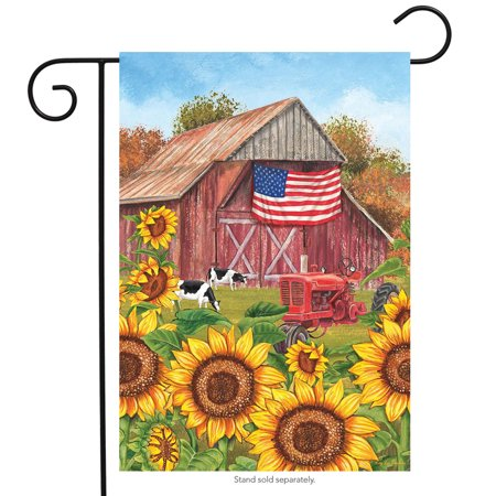 sunflower barn fall garden flag patriotic autumn 12.5