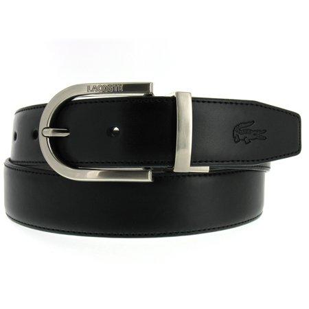 a02b8054f9 Lacoste - Lacoste Men's Reversible Black-Brown Pebbled Leather Brushed  Radius Top Buckle Dress Belt - Walmart.com