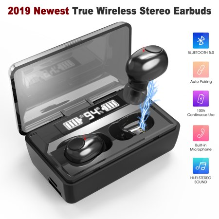 Bluetooth 5.0 Wireless Earbuds, Bietrun Wireless Headphones 100 Cycle Playing Time IPX4 Sweatproof Deep Bass Bluetooth Earphones Headset with 1800mAh Charging Case for iPhone/Android Cell
