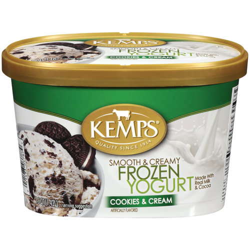 Kemps Cookies & Cream Frozen Yogurt, 1.5 qt