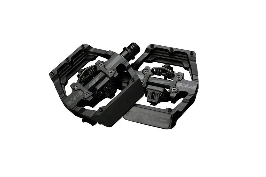 HT Pedals X2 Clipless Platform Mtn Bike Pedals DH Race Pedal Set /& Cleats Black