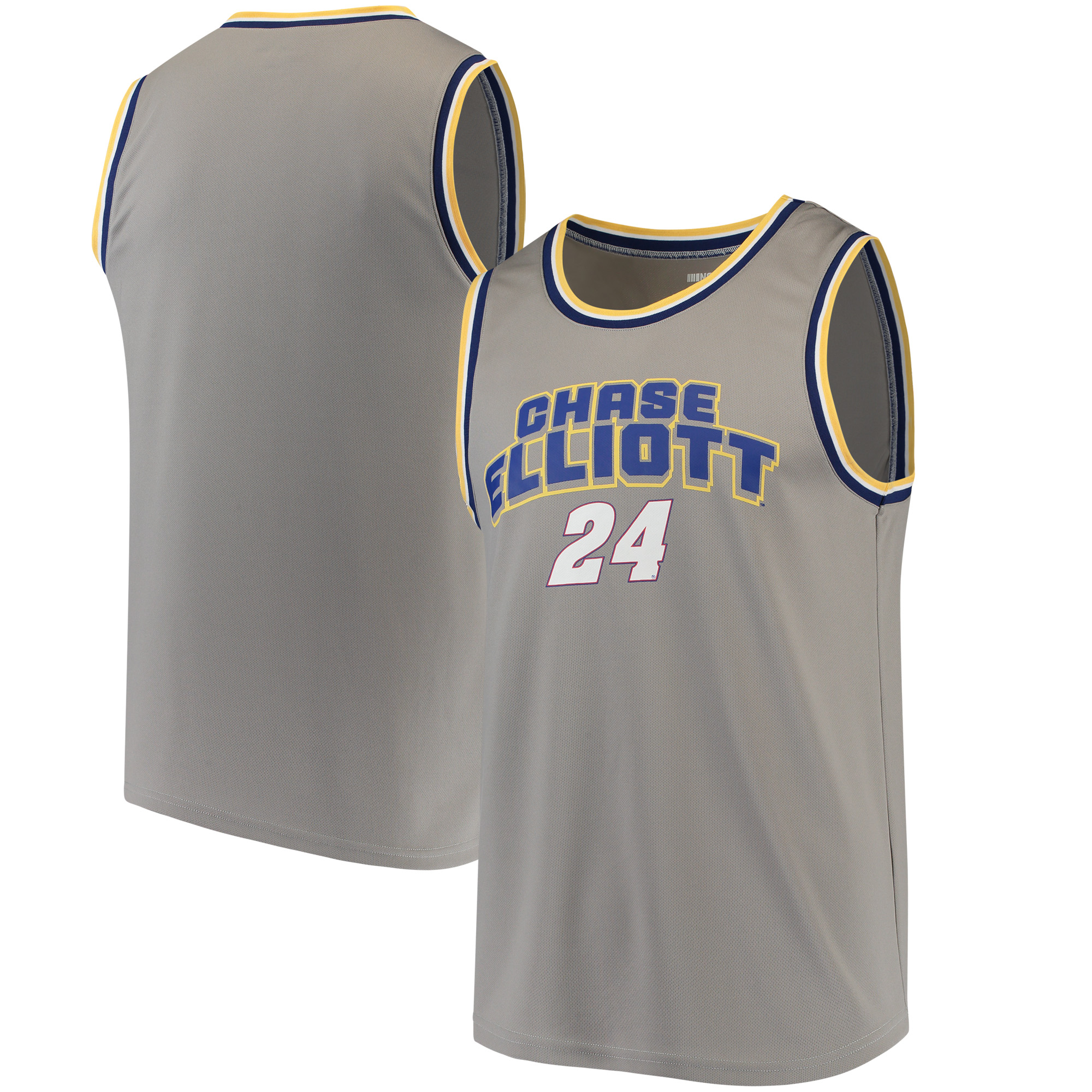 Chase Elliott Fanatics Branded Speed Lab Overtime Elevated Tank Top - Heathered Gray