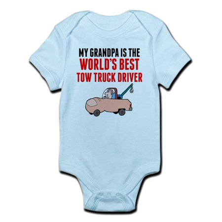 CafePress - My Grandpa Is The Worlds Best Tow Truck Driver Bod - Baby Light (Best Baby Registry Websites)