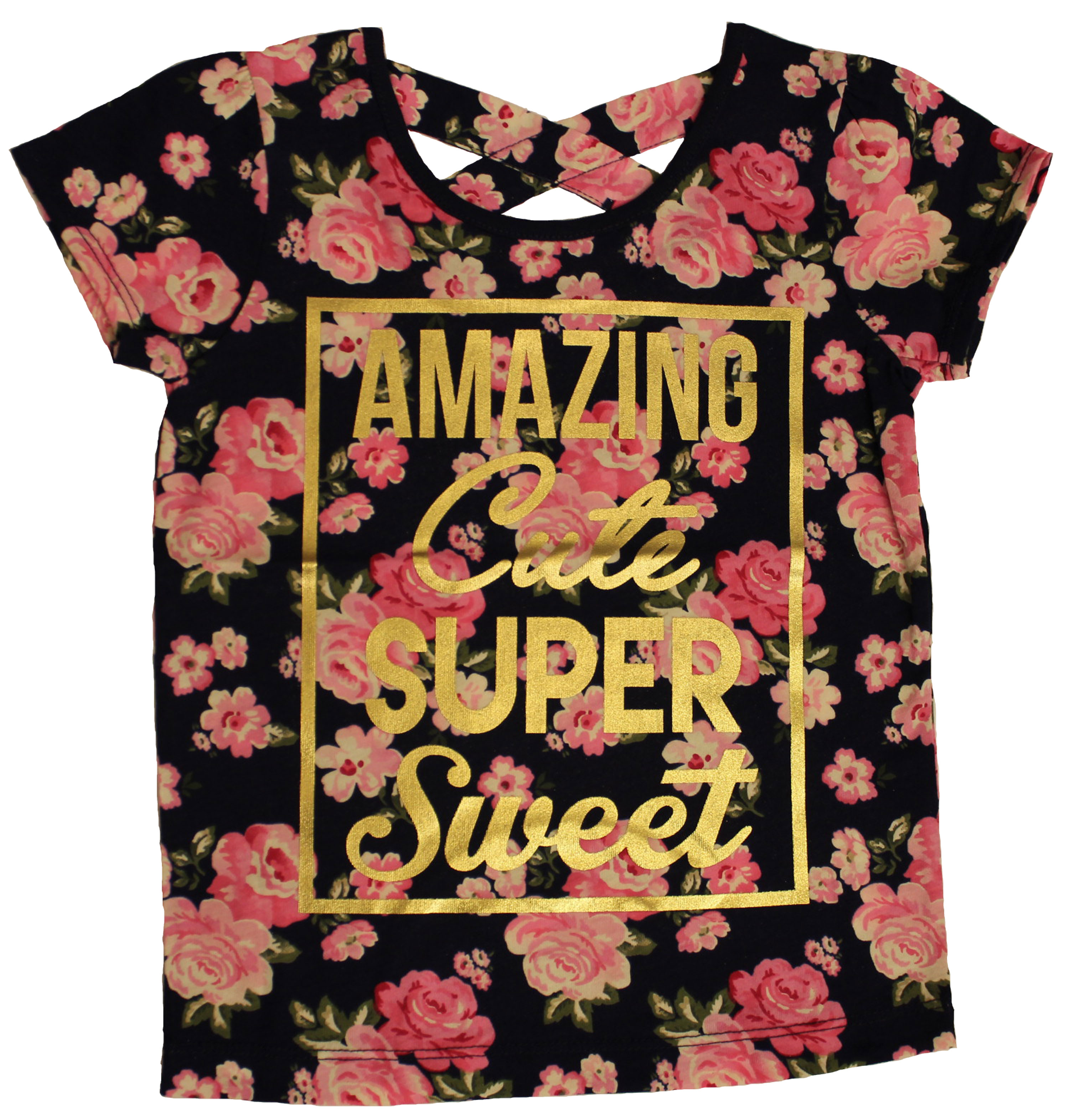 Back To School Toddler Girl Print Tee
