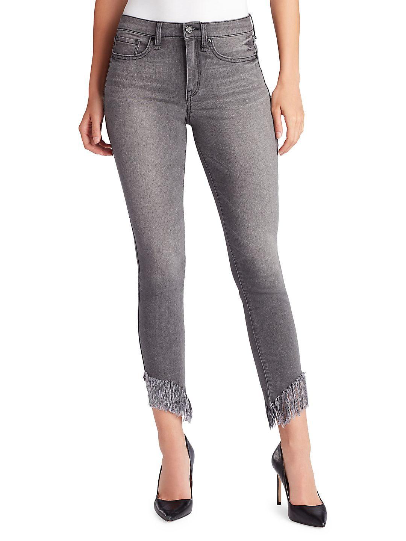 Perfect Skinny Ankle Frayed Hem Jeans
