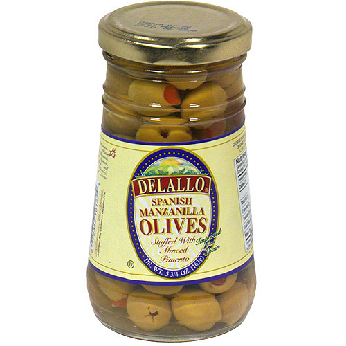 DeLallo Manzanilla Olives Stuffed With Minced Pimento, 5.75 oz (Pack of 12)