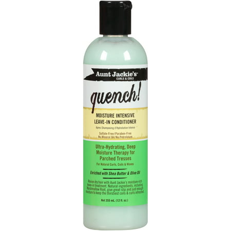 Aunt Jackie's Curls & Coils Quench! Moisture Intensive Leave-In Conditioner, 12 Oz - Intensive Moisturizing Conditioner