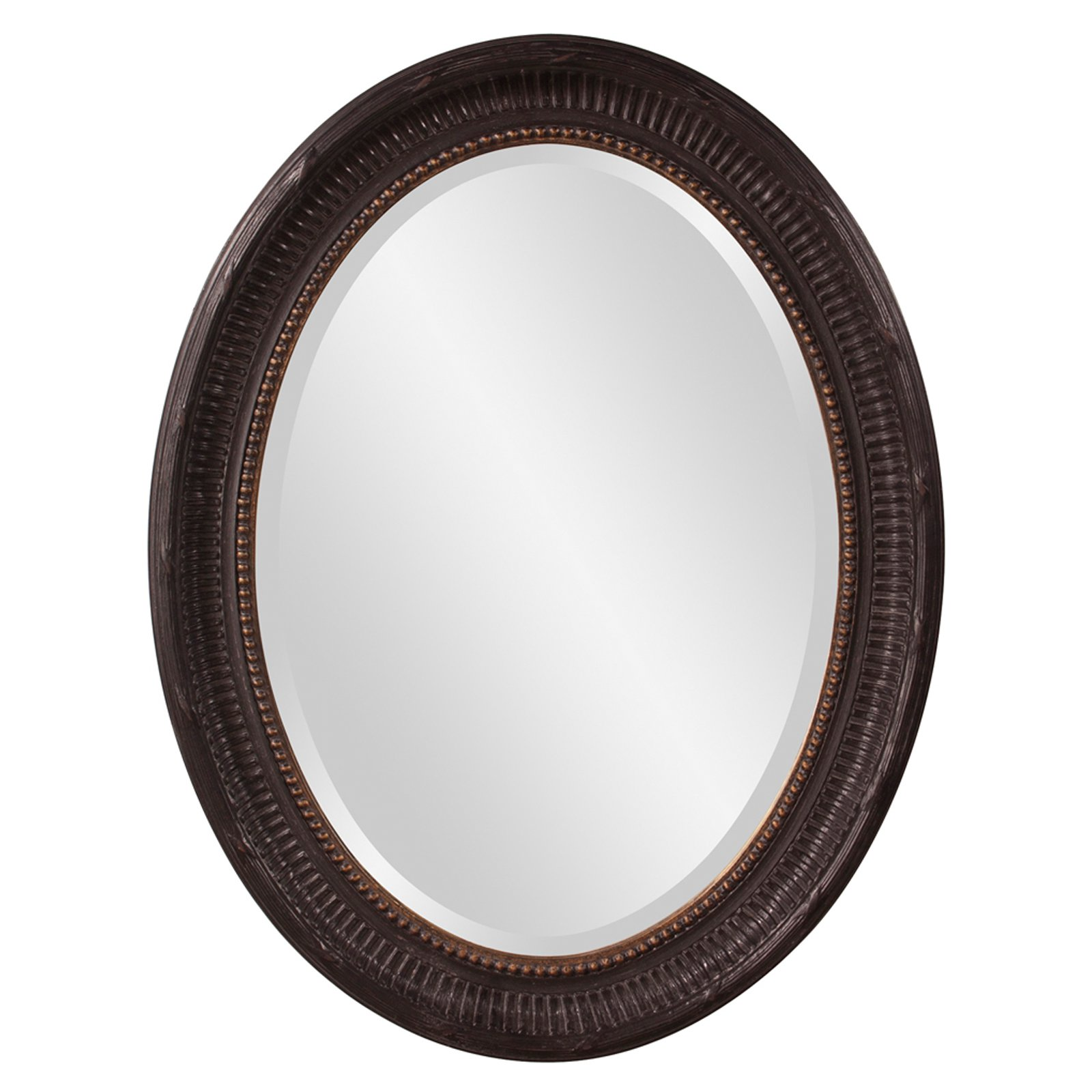 Elizabeth Austin Nero Oval Mirror 26W x 34H in. by Howard Elliott