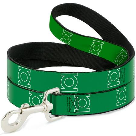Dog Leash - 6-FEET - Green Lantern Logo Green White 6