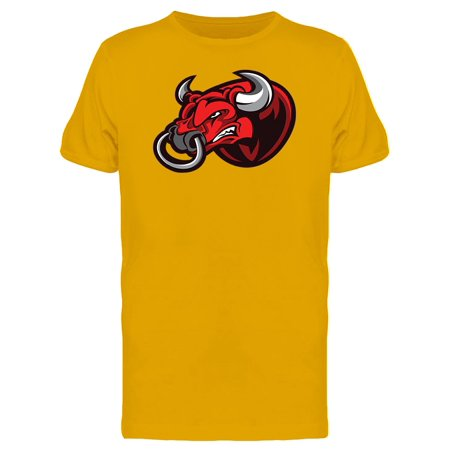 Red Angry Bull Head Mascot Tee Men's -Image by Shutterstock - Panda Mascot Head For Sale