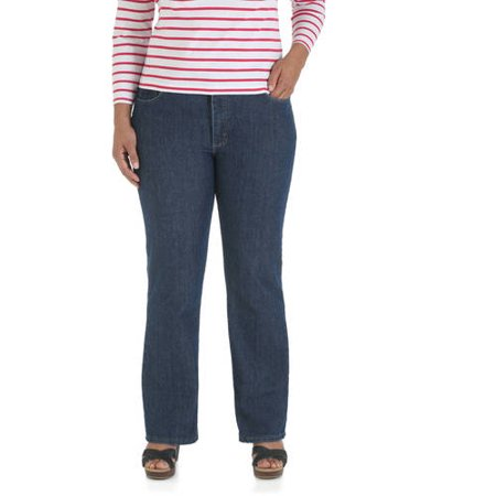 Riders by Lee Women's Plus-Size Relaxed Fit Straight-Leg Jeans  Available in Medium  Petite  and Long Lengths