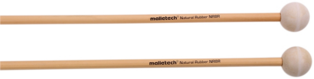 Malletech NR08R Natural Rubber White Rattan Xylophone Mallets by Malletech