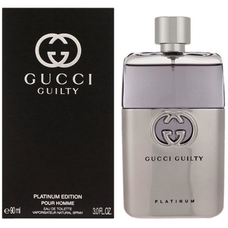 Gucci Guilty Platinum Edition Eau De Parfum Spray for Men, 3 Ounce