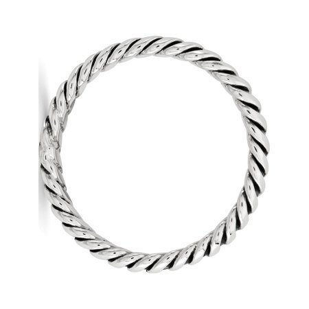 Sterling Silver Polished Twisted 3.5mm Women's Ring - image 1 of 3