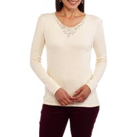 Concepts Women's Embellished V-Neck Sweater (Various Sizes & Colors)