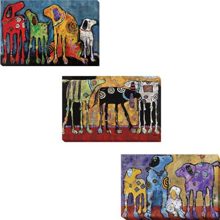Best Friends, Looking for Trouble, & Cast of Characters by Jenny Foster 3 Piece Premium Gallery-Wrapped Canvas Giclee Art Set - 16 x 24 (Best Gallery Lock For Android)