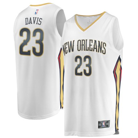 on sale 9c29e 2b3a1 Anthony Davis New Orleans Pelicans Fanatics Branded Youth Fast Break  Replica Jersey White - Association Edition