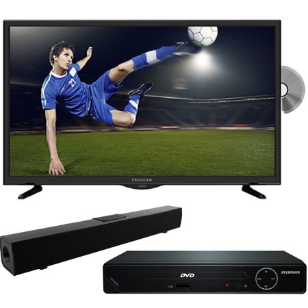 Proscan PLDV321300 32-Inch 720p 60Hz LED TV-DVD Combo with HDMI 1080p High Definition DVD Player and Solo X3 Bluetooth Sound Bar Bundle