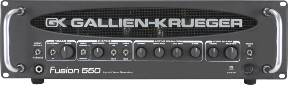Gallien-Krueger Fusion 550 Hybrid Bass Amplifier Head by Gallien-Krueger