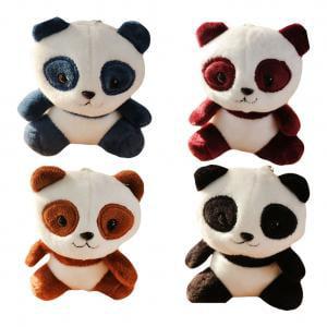 - Fancyleo 4 Pcs Panda Key Chains Stuffed Animal Cute Fluffy Key Ring Women Girl Bag Handbag Car Decoration