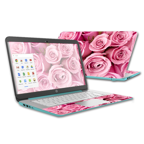 MightySkins Protective Vinyl Skin Decal for HP Chromebook 14 (2015) case wrap cover sticker skins Pink Roses