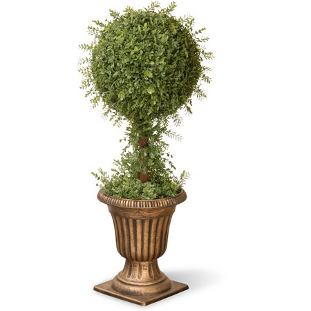 "National Tree 36"" Mini Tea Leaf 1-Ball Topiary in Urn"