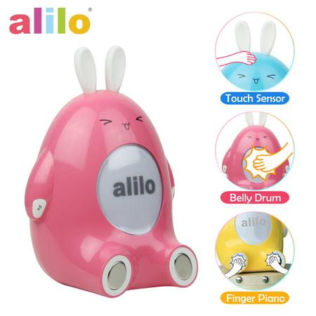 Alilo P1 Kids Smart Interactive Rhythm Training Storyteller Happy Buddy Bunny Toddler Toy - Pink (Rhythm Station)