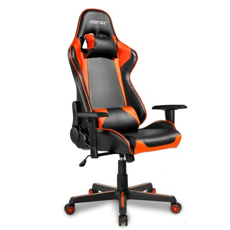 Swell Video Gaming Chairs For Adults Ergonomic Computer Chair With Arms Pu Leather Executive Swivel Desk Office Chair Adjustable Recliner Professional Ocoug Best Dining Table And Chair Ideas Images Ocougorg