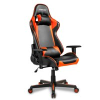 Video Gaming Chairs for Adults, Ergonomic Computer Chair with Arms, PU Leather Executive Swivel Desk Office Chair, Adjustable Recliner Professional Racing Chair with Headrest and Lumbar Support, I9517