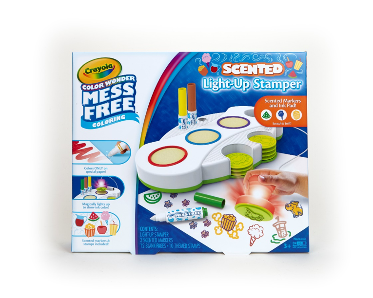 Crayola Color Wonder Light Up Stamper with Scented Inks, Gift for Kids, Ages 3, 4, 5, 6 by Crayola