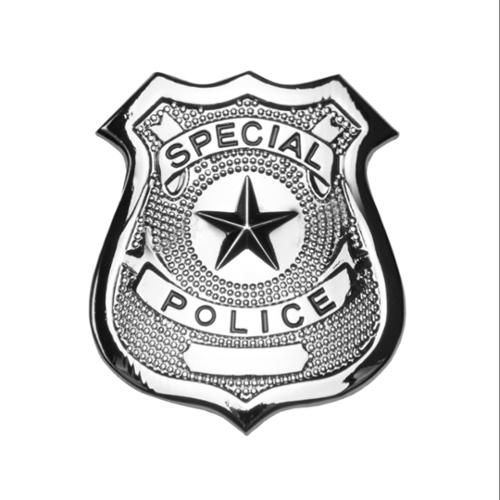 "Silver Metal 2.5"" Police Badge"