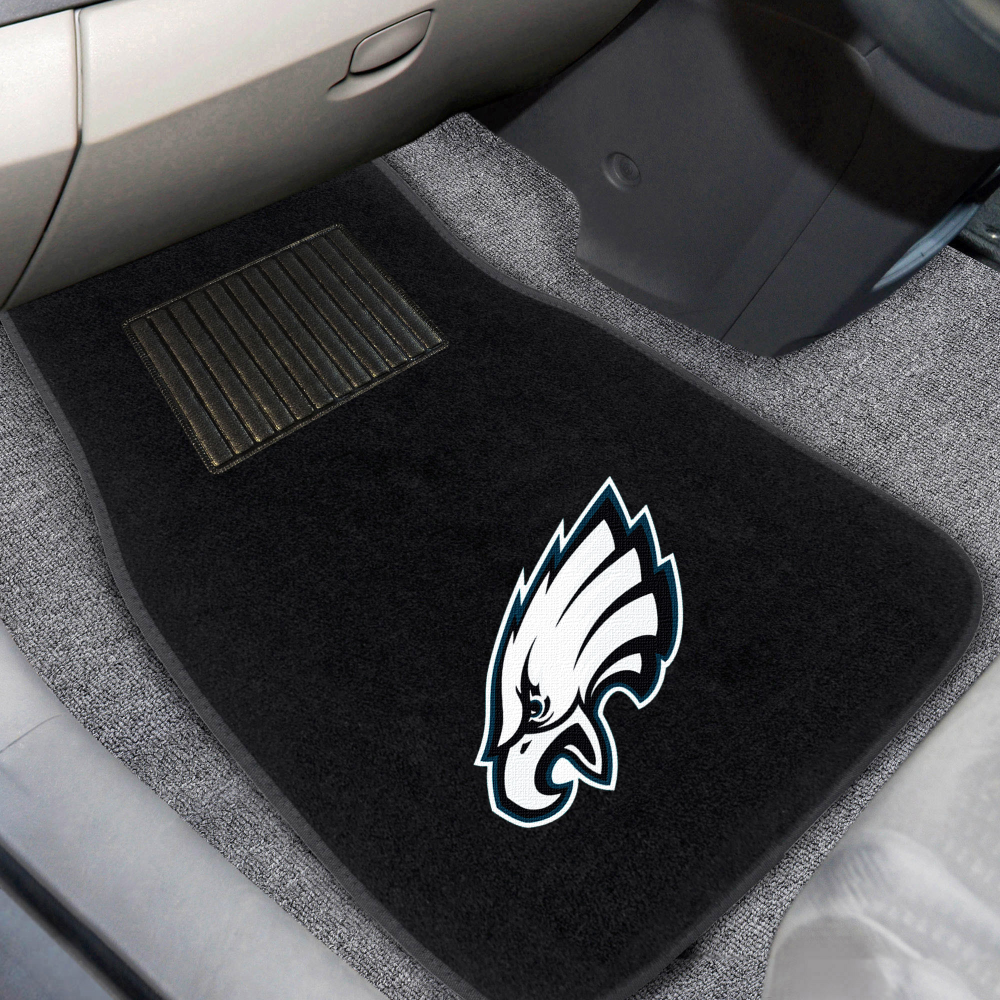 Philadelphia Eagles 2-Piece Embroidered Car Mat Set - No Size