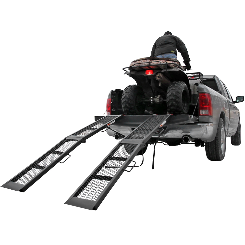 "80"" Black Steel Dual Runner Folding ATV Ramps"