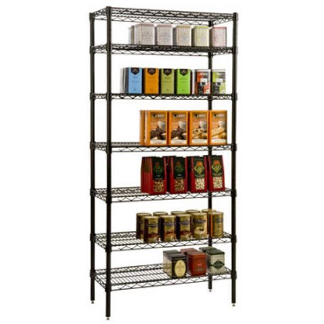 FocusFoodService FF1436BK 14 in. x 36 in. Epoxy Wire Shelf - Black