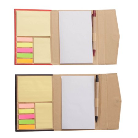Flat Notes Set (Memo Book with Sticky Notes Set of 2 )