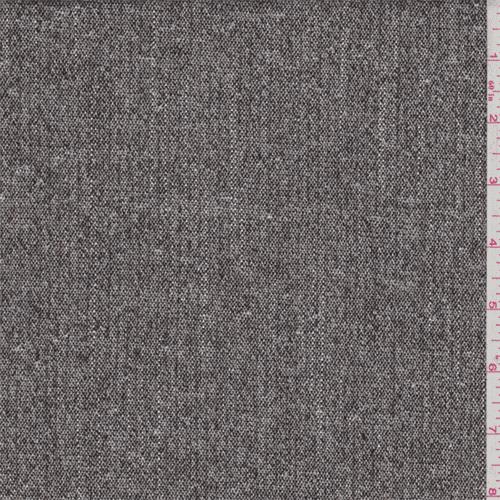 Walnut Brown Metallic Wool Suiting, Fabric By the Yard