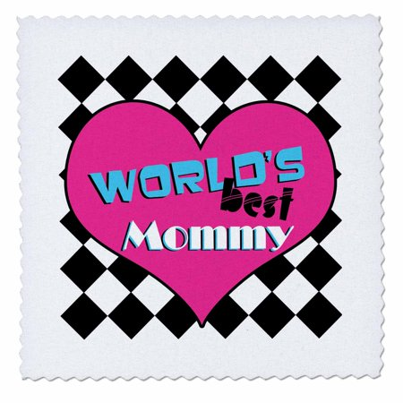 3dRose Worlds Best Mommy - Quilt Square, 10 by (Best Quilts In The World)