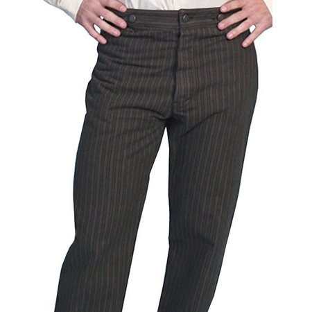 Scully Western Pants Men Stripe Old West Twill Seat Button Fly 592404