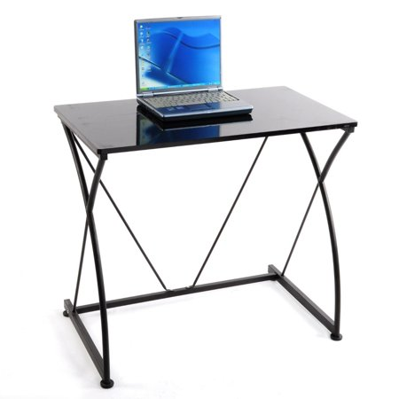 Modern home office computer laptop desk workstation executive study table black - Computer table in walmart ...