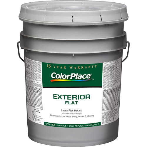 Colorplace Exterior Flat Accent Base Paint, 5 Gal