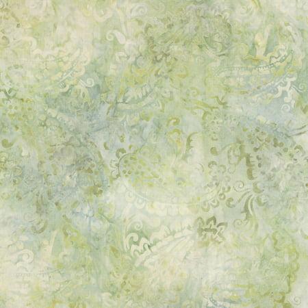 Wilmington Batiks Cream of the Crop Tan Green Delicate Paisley